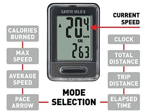 Cateye Velo 9 cycle computer price reveiw india